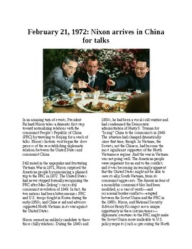 This Day in History - February 21: Nixon in China (no prep/sub plans)
