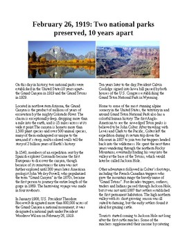 This Day in History - February 26: Grand Canyon and Grand Tetons Parks