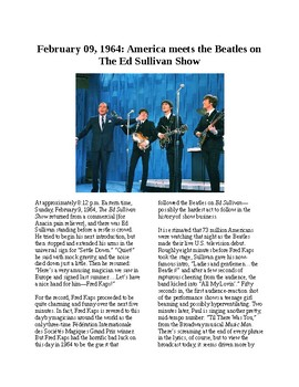 This Day in History - February 9: The Beatles on Ed Sullivan (no prep)