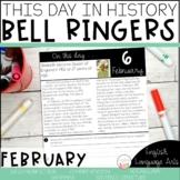 This Day in History February Bell Ringers | Daily Language | Morning Work