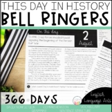 This Day in History Full Year Bell Ringers | Daily Language | Morning Work