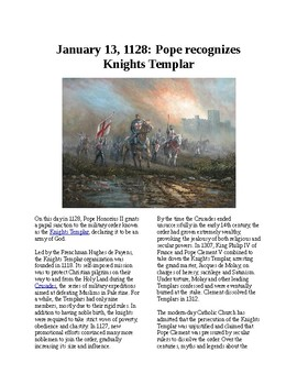 This Day in History - January 13: The Pope recognizes the Knights Templar