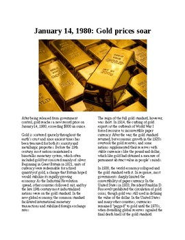 This Day in History - January 14: The US ends the Gold Standard (no prep)