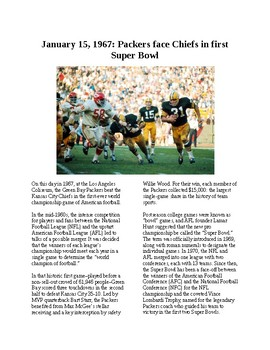 This Day in History - January 15: Super Bowl I is played (no prep/sub plans)