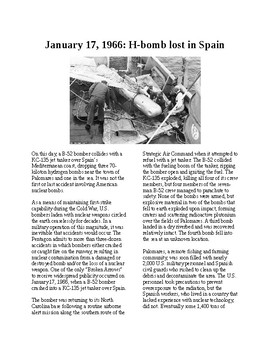 This Day in History - January 17: H-Bombs lost in Spain (no prep/sub plans)