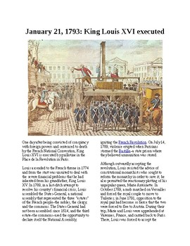 This Day in History - January 21: King Louis XVI is executed (no prep/sub plan)