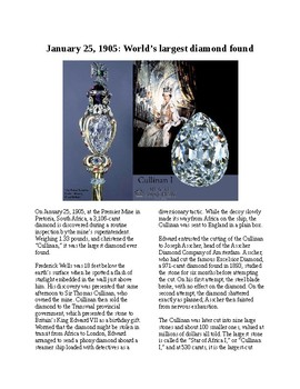This Day in History - January 25: Largest diamond ever found (no prep/sub plan)