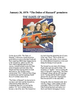 This Day in History - January 26: The Dukes of Hazzard debuts (no prep/sub)