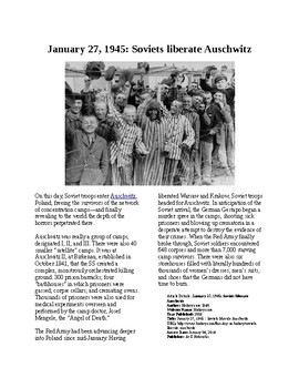 This Day in History - January 27: Auschwitz liberated (no prep/sub plans)