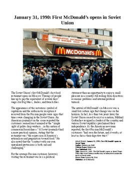 This Day in History - January 31: First Soviet McDonald's opens (no prep/sub)