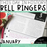 This Day in History January Bell Ringers | Morning Work | Daily Language