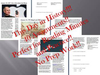 This Day in History - January Bundle - SAVE OVER $35!!! (no prep/sub plans)