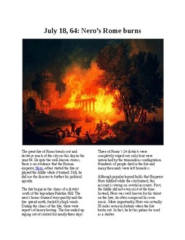 This Day in History - July 18: Rome burns (no prep/sub plans)