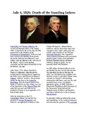 This Day in History - July 4: Death of two Founding Fathers (no prep/sub plans)