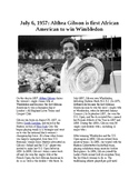 This Day in History - July 6: Althea Gibson wins at Wimbledon (no prep/sub plans