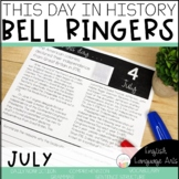 This Day in History July Bell Ringers   Daily Language   Morning Work