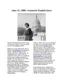 This Day in History - June 11: Jeannette Rankin born (no prep/sub plans)