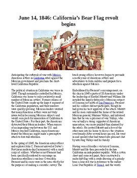 This Day in History - June 14: California's Bear Flag Revolt begins (no prep)