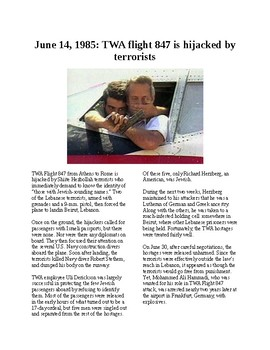 This Day in History - June 14 TWA flight 847 hijacked (no prep/sub plans)