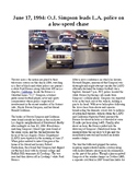 This Day in History - June 17: OJ Simpson leads police on a chase (no prep)