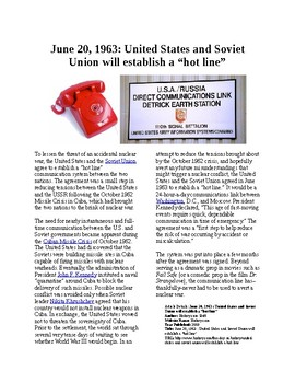 """This Day in History - June 20: US and Soviets establish a """"Hot Line"""" (no prep)"""