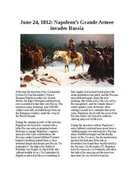 This Day in History - June 24: Napoleon Invades Russia (no prep/sub plans)