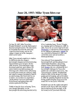 This Day in History - June 28: Tyson bites off Holyfield's ear (no prep/sub plan