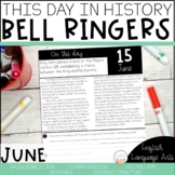 This Day in History June Bell Ringers   Daily Language   Morning Work