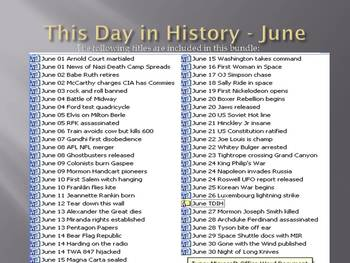 This Day in History - June bundle: SAVE $45!!! (no prep/sub plans)