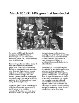 This Day in History - March 12: FDR's Fireside Chats (no prep/sub plans)