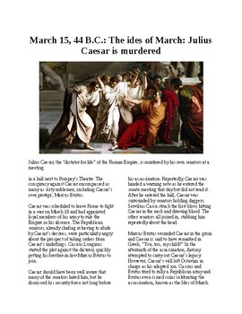This Day in History - March 15: The Ides of March: Caesar is Murdered
