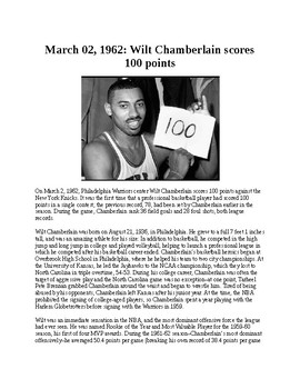 This Day in History - March 2: Wilt Chamberlain scores 100 points (no prep/sub)