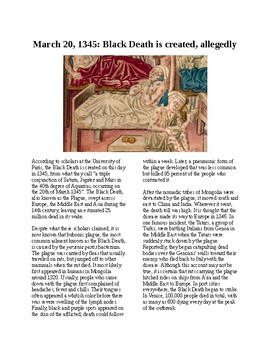 This Day in History - March 20: The Black Death is created??? (no prep/sub plan)