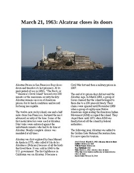 This Day in History - March 21: Alcatraz closes (no prep/sub plan)