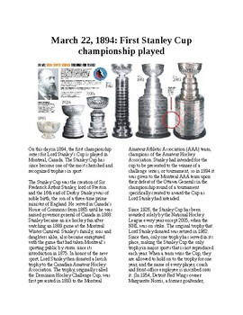 This Day in History - March 22: The first Stanley Cup championship (no prep/sub)