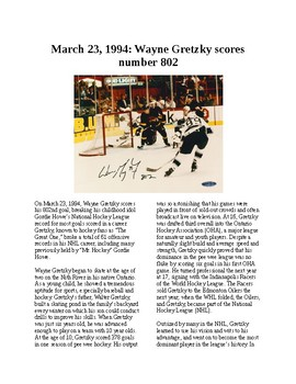 This Day in History - March 23: Gretzky scores goal 802 (no prep/sub plans)