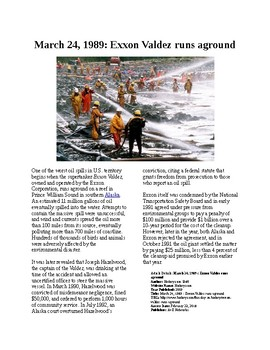This Day in History - March 24: Exxon Valdez (no prep/sub plans)