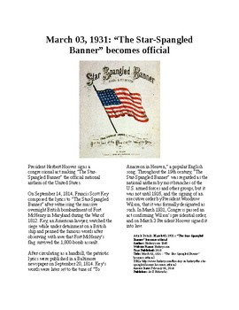 This Day in History - March 3: Star Spangled Banner becomes official anthem