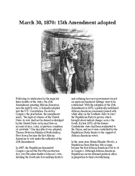 This Day in History - March 30: The 15th Amendment is passed (no prep/sub)