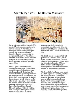 This Day in History - March 5: The Boston Massacre occurs (no prep/sub plan)