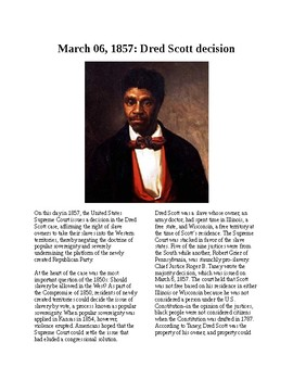 This Day in History - March 6: The Dred Scott case (no prep/sub plans)