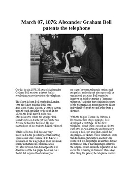 This Day in History - March 7: Bell patents telephone (no prep/sub plans)