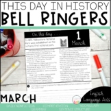 This Day in History March Bell Ringers   Daily Language   Morning Work