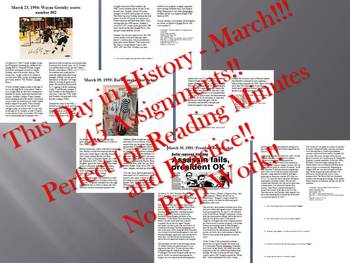 This Day in History - March Bundle: SAVE OVER $40!!! (no prep/sub plans)
