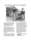 This Day in History - May 20: The Spirit of St. Louis departs (no prep/sub plan)