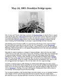 This Day in History - May 24: Brooklyn Bridge opens (no prep/sub plans)