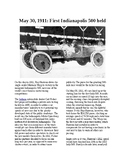 This Day in History - May 30: The first Indy 500 race (no prep/sub plans)