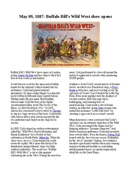 This Day in History - May 9: Buffalo Bill's Wild West Show opens (no prep/sub)