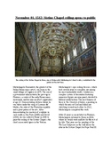 This Day in History - November 1: The Sistine Chapel Opens (no prep)