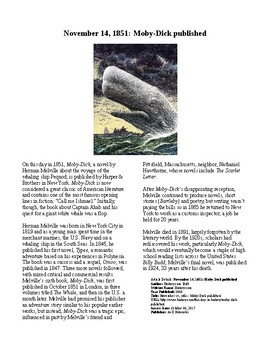 This Day in History - November 14: Moby Dick Published (no prep/sub plan)